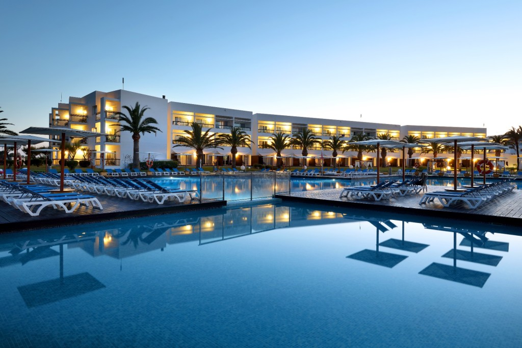 Grand Palladium Palace Ibiza at twilight