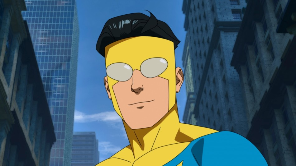 Mark Grayson as superhero Invincible in the animated show of the same name