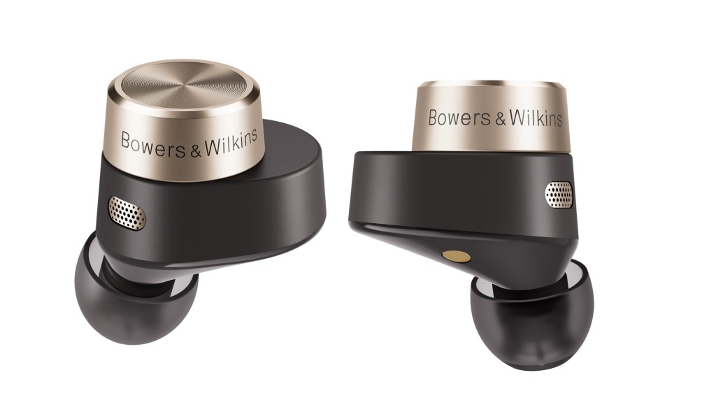Close up view of Bowers & Wilkins PI7 True Wireless PI7 headphones