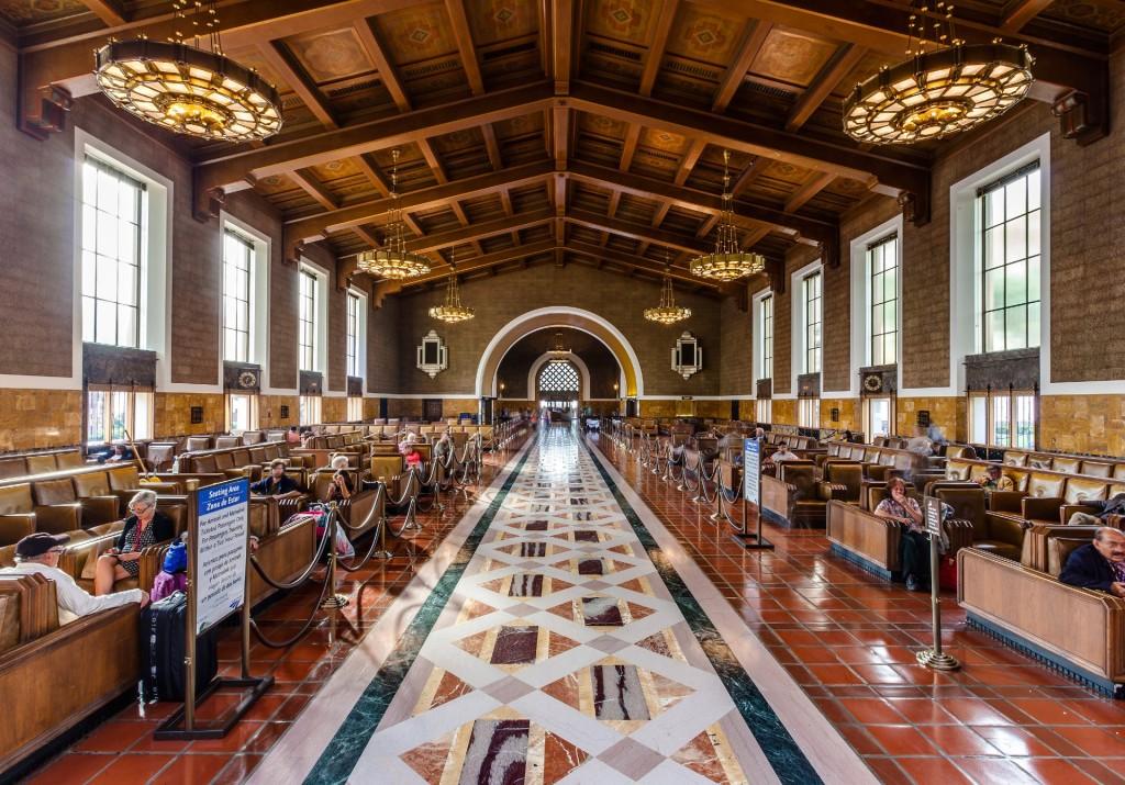 Terracotta tiles inside the Union Station