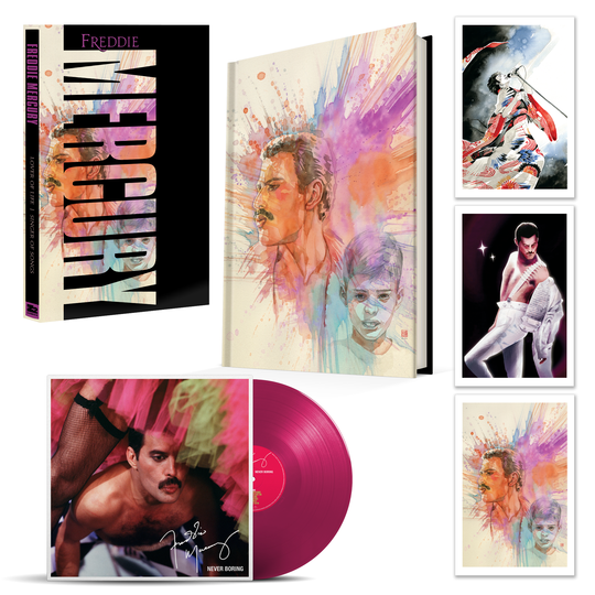 The Deluxe version of the Freddie Mercury graphic novel with vinyl LP