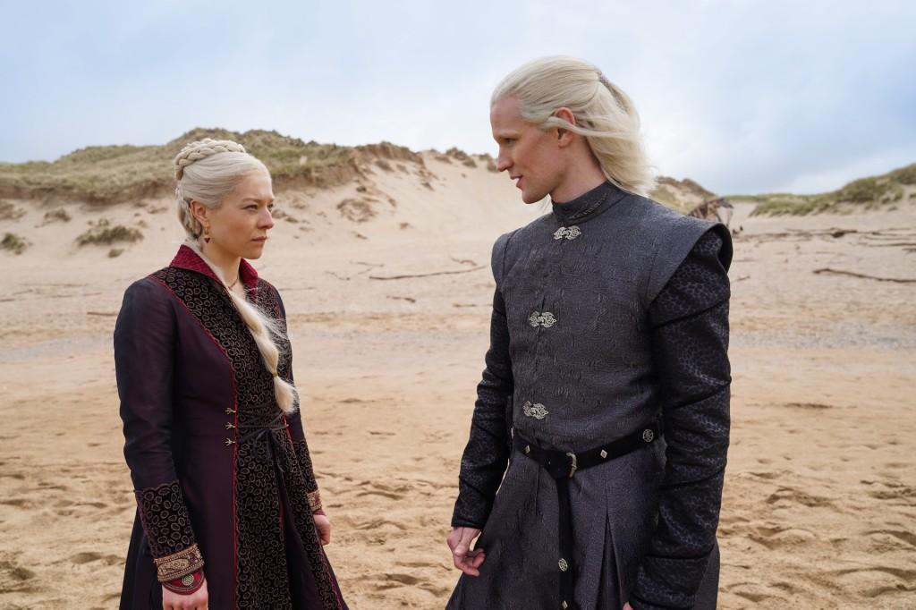 Emma On a beach D'Arcy as Rhaenyra Targaryen & Matt Smith as Daemon Targaryen