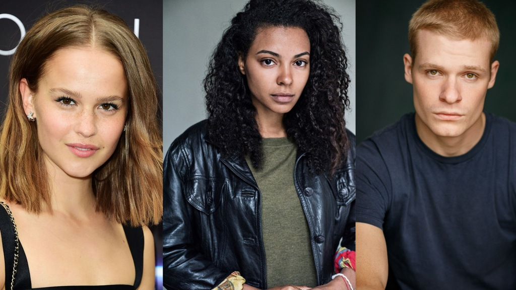 The cast of SkyTV mystery thriller The Rising Clara Rugaard Nenda Neururer and Solly McLeod