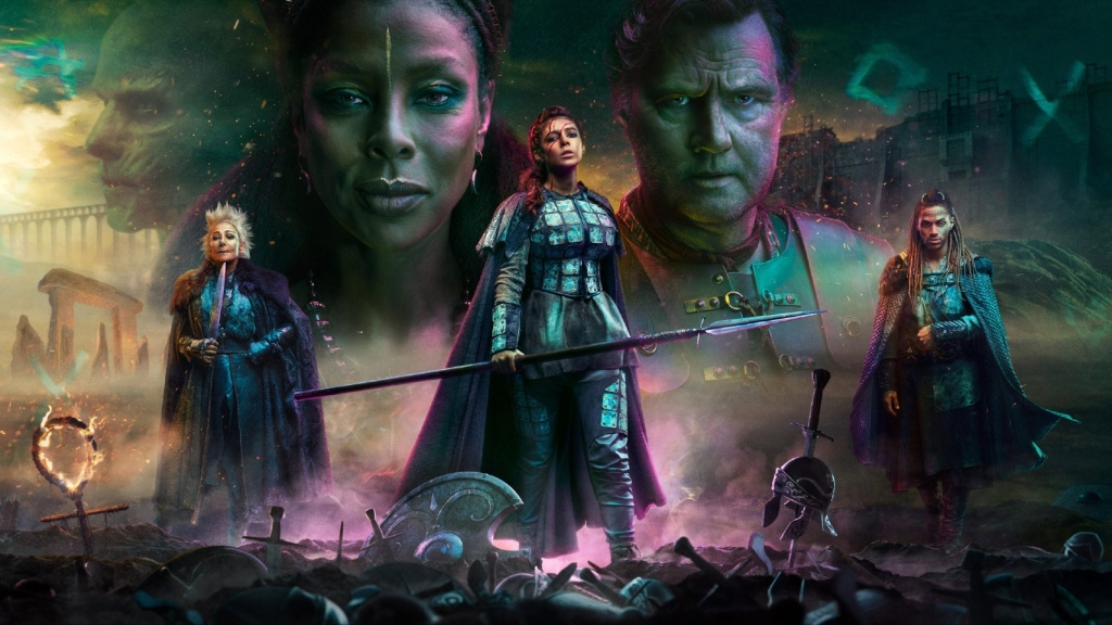 Painted promotional art featuring the main characters of Britannia Series 3