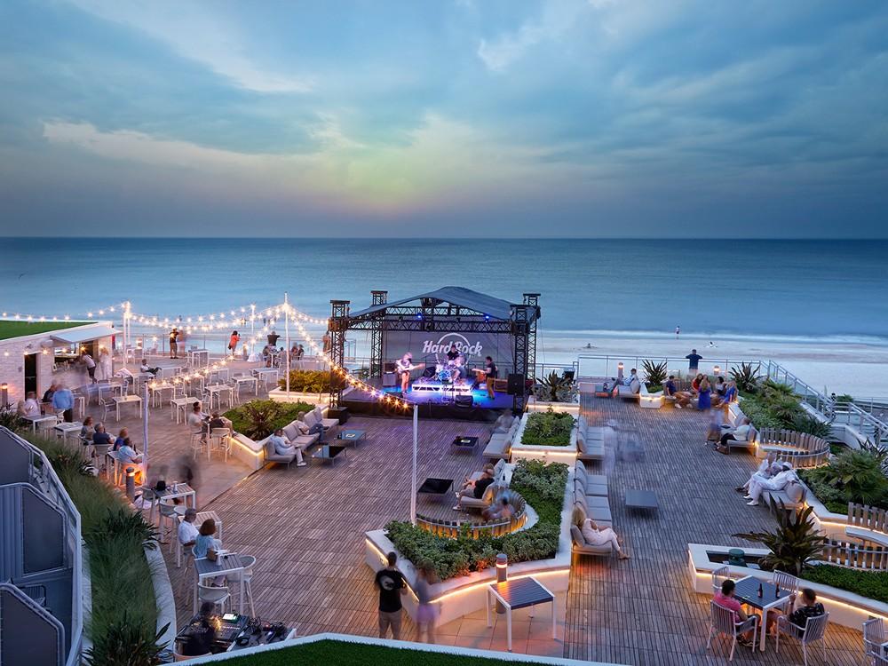 The ocean view at Hard Rock Hotel, Daytona Beach