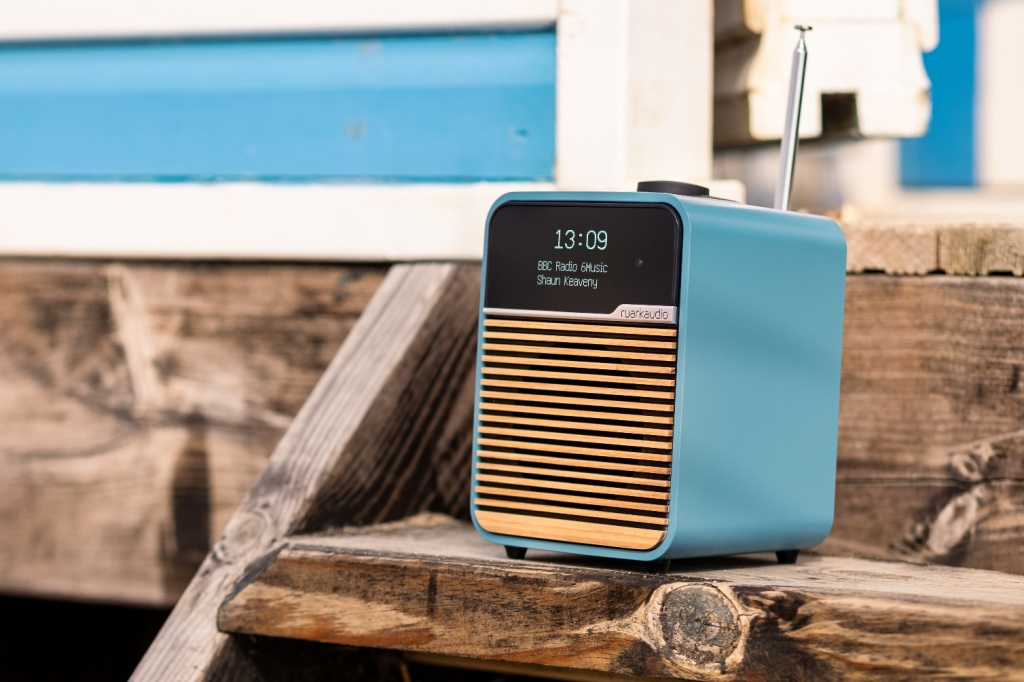 Ruark Audio Mk4 on the steps of a beach hut