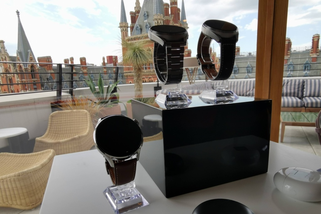 Huawei Watch 3 on display at the Standard Hotel London