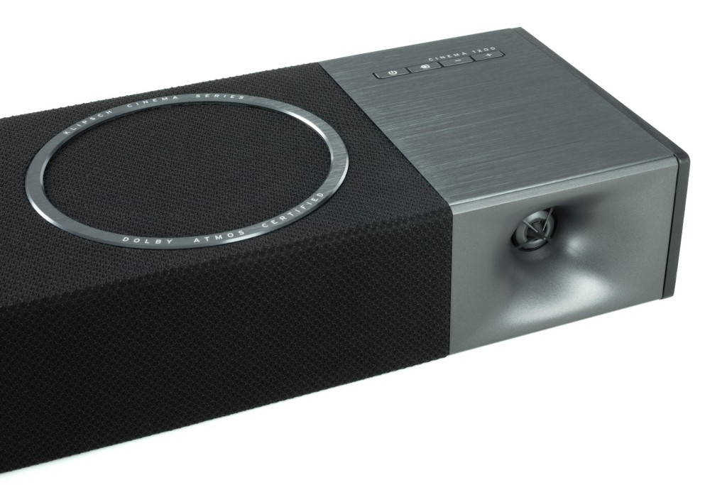 Klipsch Cinema Soundbar upfiring driver and horn speaker