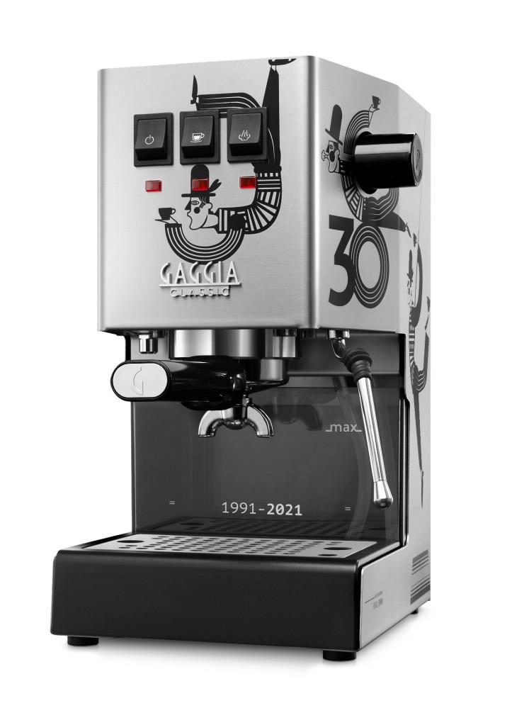 A Gaggia Classic 30_Limited Edition espresso machine ready to brew