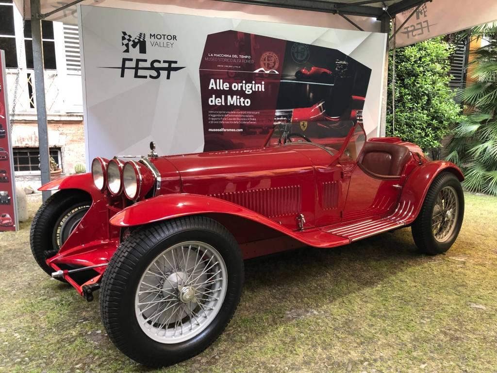 Red vintage car at Motor Valley Fest