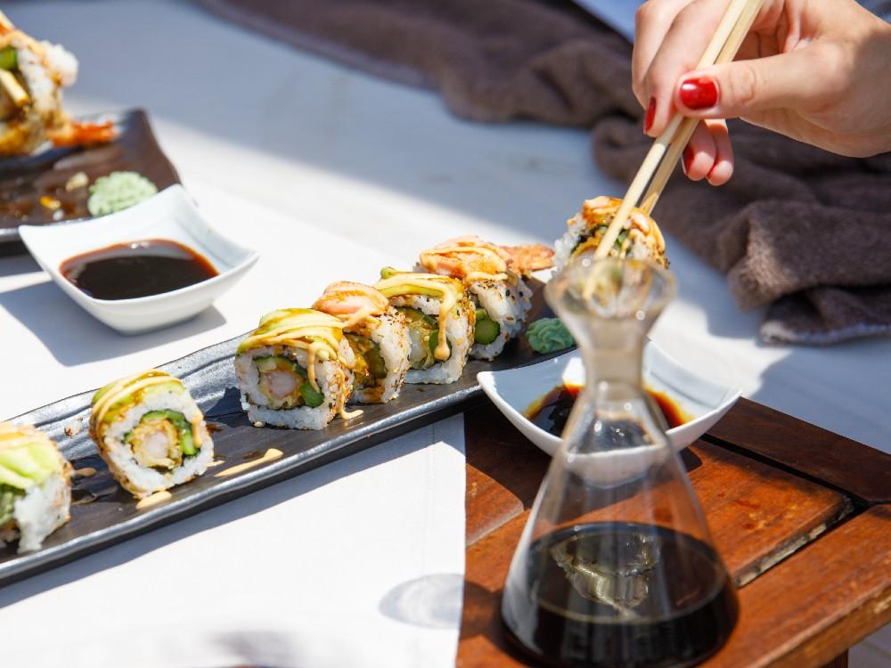 The food at Ocean Club Marbella's Amai by OC restaurant