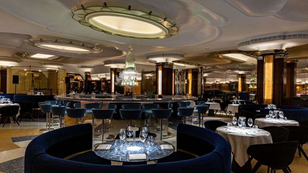 The Penguin looms over the Iceberg Lounge at Park Row in London