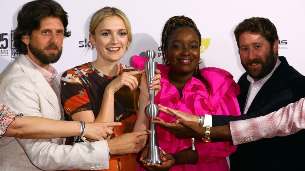 Sky Arts Awards winners point to trophy