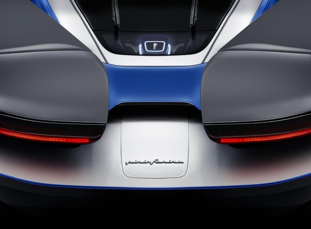 Rear view of the Automobili Pininfarin Battista