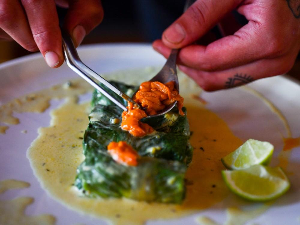 Fine dining at Kooc restaurant, Costa Navarino