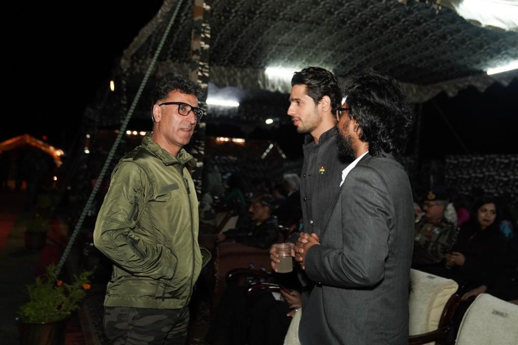 Director Vishnu Varadhan and Sidharth Malhotra in conversation with Vishal Batra at the Shershaah trailer launch