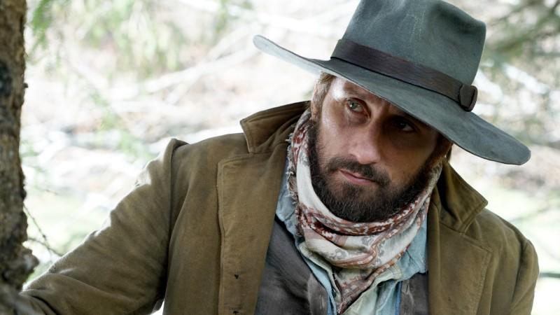Matthias Schoenaerts in costume as western hero Django