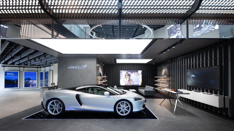 Inside the McLaren supercar store China