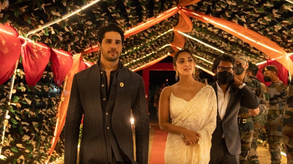 Sidharth Malhotra and Kiara Advani at the Shershaah trailer launch at Kargil Vijay Diwas celebrations