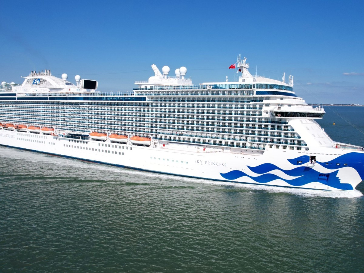 Sky Princess in Southampton, 2021