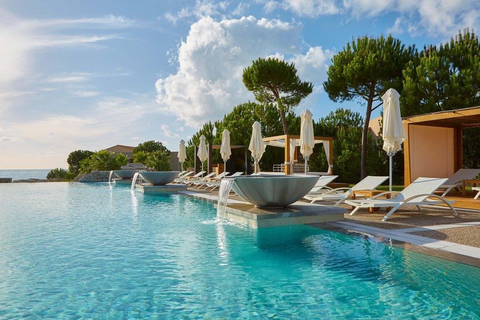 The pool view at The Westin Resort Costa Navarino