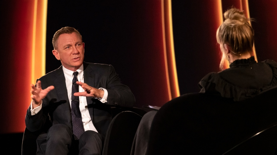 Daniel Craig on stage at the Odeon Luxe West End