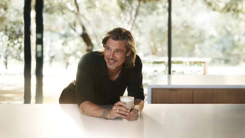 Bard Pitt sups a coffee as he relishes his role as coffee ambassador