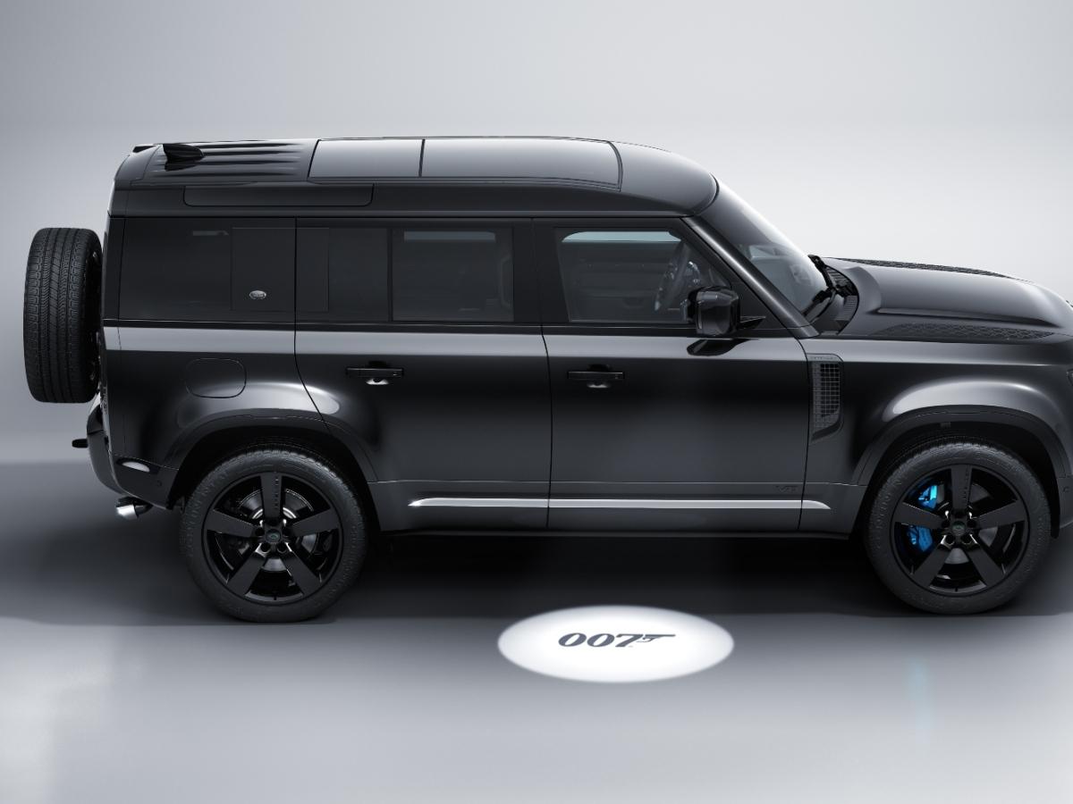 Land Rover Defender V8 Bond Edition in an 007 spotlight