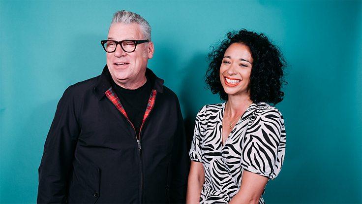 BBC Radio 4 Screenshot hosts Mark Kermode and Ellen E Jones pose for the camera
