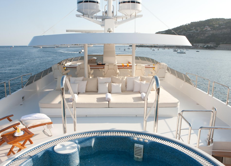View from the sundeck on the Azzurra II