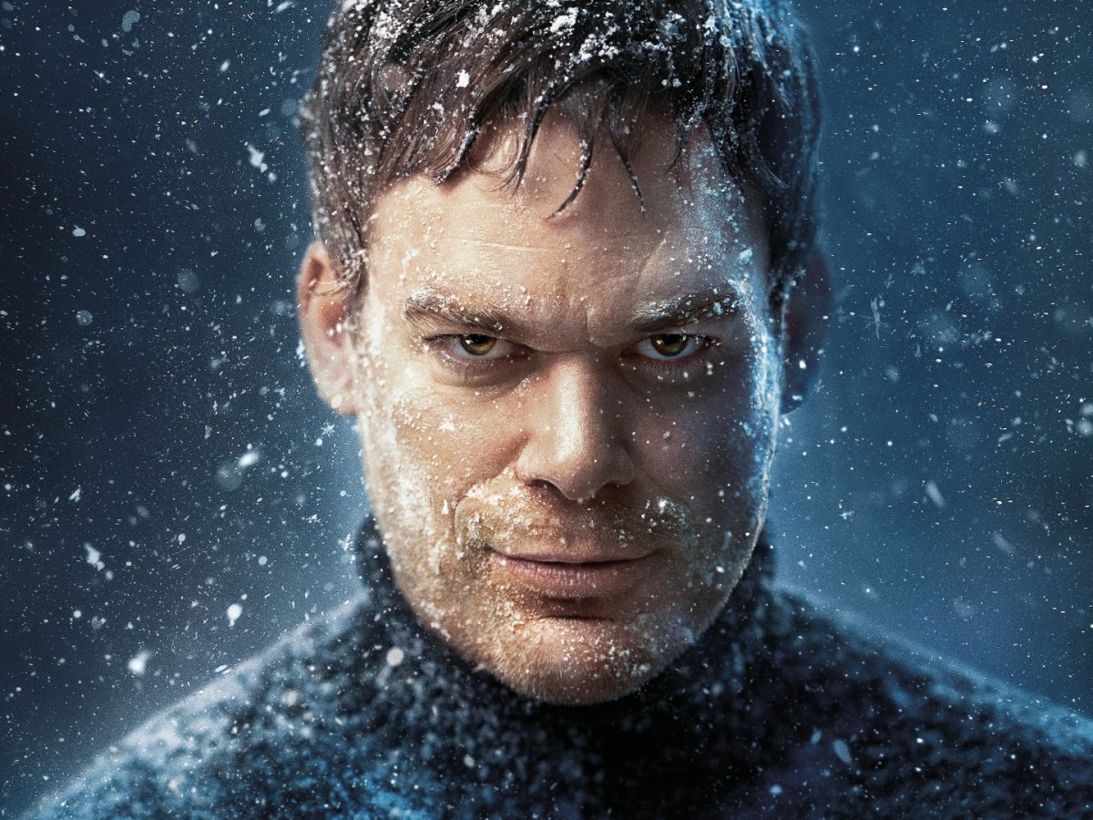 Michael C Hall stares through a snow storm for Dexter New Blood