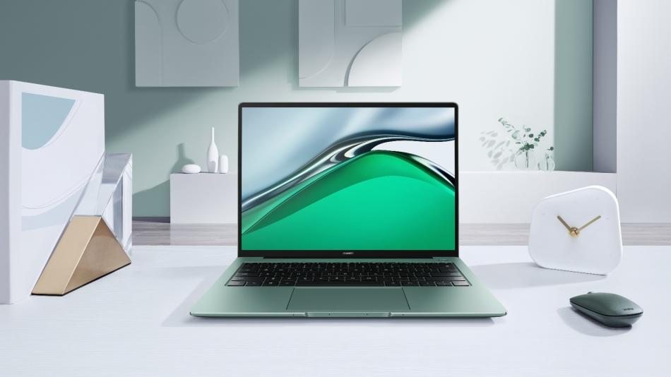 Huawei MateBook 14s on a modern white desktop